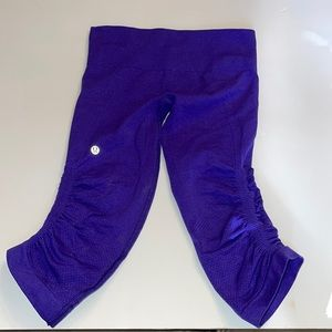 Lululemon Grape Purple Crop Leggings